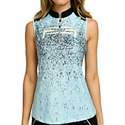 Jamie Sadock Women's ¼ Zip Sleeveless Golf Top