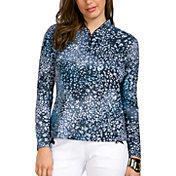 Jamie Sadock Women's Cheetah Print Golf Top