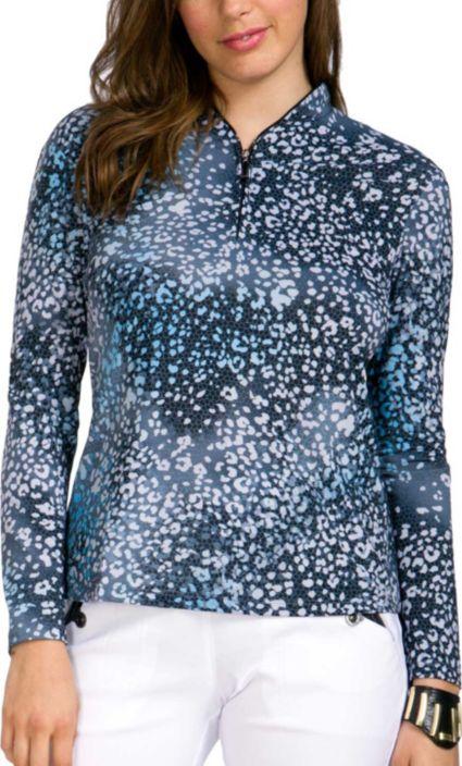 Jamie Sadock Women's Cheetah Print Golf Top