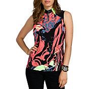 Jamie Sadock Women's Octopus Print ¼ Zip Sleeveless Golf Top