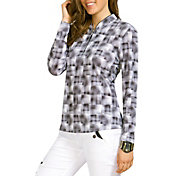 Jamie Sadock Women's Hologram Print ¼ Zip Long Sleeve Golf Top