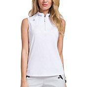 Jamie Sadock Women's ¼ Zip Sleeveless Golf Top