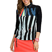 Jamie Sadock Women's Shimauma Print ¼ Zip Golf Top