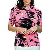 Jamie Sadock Women's Crunch Meteorite Short Sleeve Golf Top