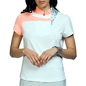 Jamie Sadock Women's Short Sleeve Geometric Golf Top