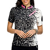 Jamie Sadock Women's Raindrop Short Sleeve Golf Top