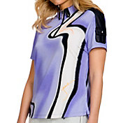 Jamie Sadock Women's Short Sleeve Lava Like ¼ Zip Golf Top
