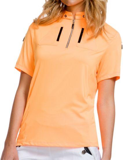 Jamie Sadock Women's Short Sleeve ¼ Zip Golf Top