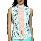 Jamie Sadock Women's Sleeveless Color Block Golf Top