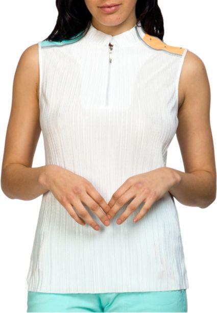 Jamie Sadock Women's Sleeveless Multi Color Crunch Golf Top