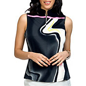 Jamie Sadock Women's Sleeveless Lava ¼ Zip Golf Top