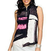 Jamie Sadock Women's Gigabryte Coo-tron Geometric Print Sleeveless Golf Top