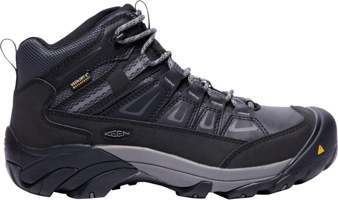 e33d404d544 KEEN Men's Boulder Mid Waterproof Steel Toe Work Boots