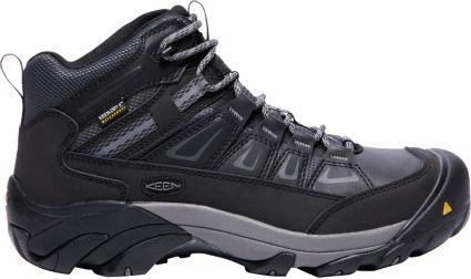KEEN Men's Boulder Mid Waterproof Steel Toe Work Boots