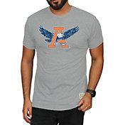 Original Retro Brand Men's Auburn Tigers Grey Mock Twist T-Shirt