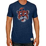Original Retro Brand Men's Auburn Tigers Blue Tri-Blend T-Shirt