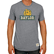 Original Retro Brand Men's Baylor Bears Grey Tri-Blend T-Shirt