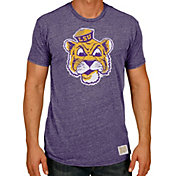 Original Retro Brand Men's LSU Tigers Purple Tri-Blend T-Shirt