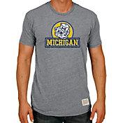 Original Retro Brand Men's Michigan Wolverines Grey Tri-Blend T-Shirt