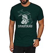 Original Retro Brand Men's Michigan State Spartans Green Mock Twist T-Shirt