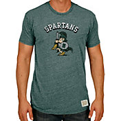 Original Retro Brand Men's Michigan State Spartans Green Tri-Blend T-Shirt
