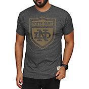 Original Retro Brand Men's Notre Dame Fighting Irish Green Mock Twist T-Shirt