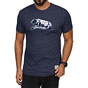 Original Retro Brand Men's Penn State Nittany Lions Blue Mock Twist T-Shirt