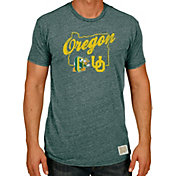 Original Retro Brand Men's Oregon Ducks Green Tri-Blend T-Shirt