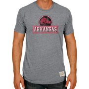 Original Retro Brand Men's Arkansas Razorbacks Grey Tri-Blend T-Shirt