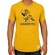 Original Retro Brand Men's Iowa Hawkeyes Gold Tri-Blend T-Shirt