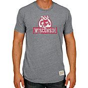 Original Retro Brand Men's Wisconsin Badgers Grey Tri-Blend T-Shirt