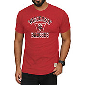 Original Retro Brand Men's Wisconsin Badgers Red Mock Twist T-Shirt