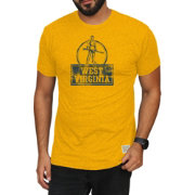Original Retro Brand Men's West Virginia Mountaineers Gold Mock Twist T-Shirt