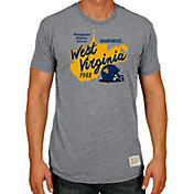 Original Retro Brand Men's West Virginia Mountaineers Grey 1998 Undefeated Regular Season Football T-Shirt