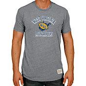 Original Retro Brand Men's West Virginia Mountaineers Grey Tri-Blend T-Shirt