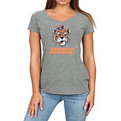 Original Retro Brand Women's Auburn Tigers Grey Megan Tri-Blend V-Neck T-Shirt