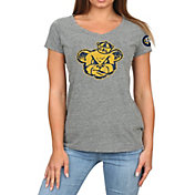 Original Retro Brand Women's Cal Golden Bears Grey Megan Tri-Blend V-Neck T-Shirt