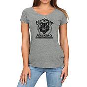 Original Retro Brand Women's Cincinnati Bearcats Grey Megan Tri-Blend V-Neck T-Shirt