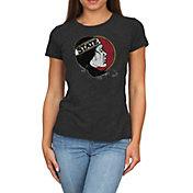 Original Retro Brand Women's Florida State Seminoles Melanie Black Tri-Blend T-Shirt