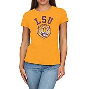 Original Retro Brand Women's LSU Tigers Gold Melanie Tri-Blend T-Shirt