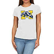 Original Retro Brand Women's Michigan Wolverines Melanie White Tri-Blend T-Shirt