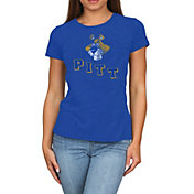 Original Retro Brand Women's Pitt Panthers Blue Melanie Tri-Blend T-Shirt