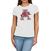 Original Retro Brand Women's Arkansas Razorbacks Melanie White Tri-Blend T-Shirt