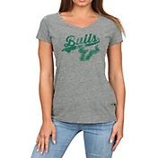 Original Retro Brand Women's South Florida Bulls Grey Megan Tri-Blend V-Neck T-Shirt
