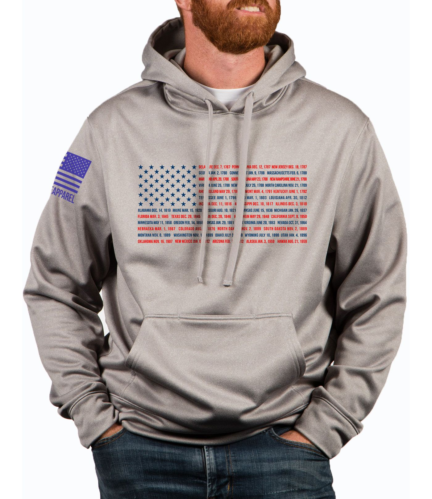 Nine Line Apparel Men's States Tailgater Hoodie