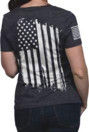 18e83851 Nine Line Apparel Women's American Flag T-Shirt