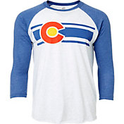 Colorado Limited Men's Heather White Colorado Baseball ¾ Sleeve Shirt