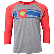 Colorado Limited Men's Red & Grey Colorado Baseball ¾ Sleeve Shirt