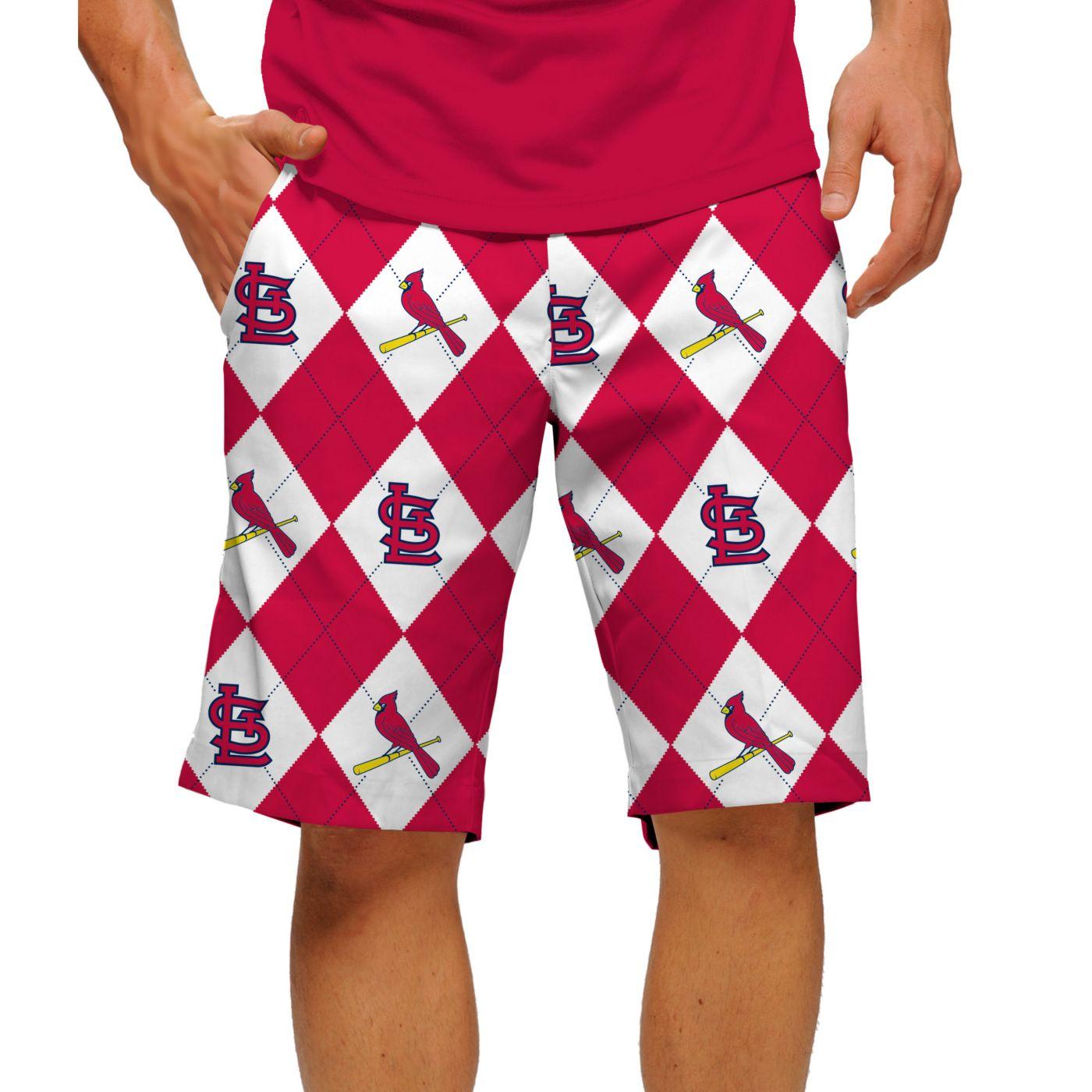 Loudmouth Men's St Louis Cardinals Golf Shorts