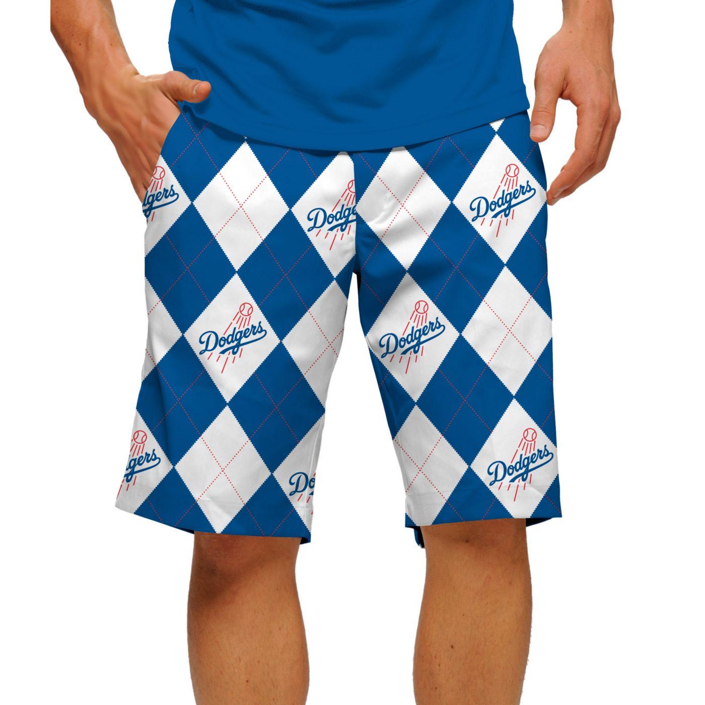 Loudmouth Men's Los Angeles Dodgers Golf Shorts